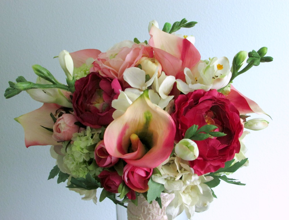 Custom Pink, Ivory, & Green Bouquet