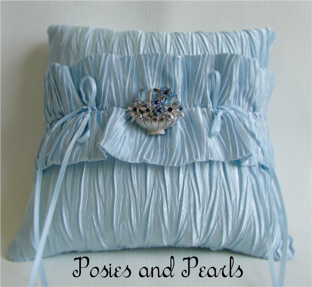 Crystal Blossom Ring Bearer Pillow