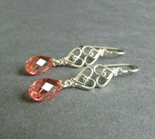 Affection Earrings (Coral Pink)