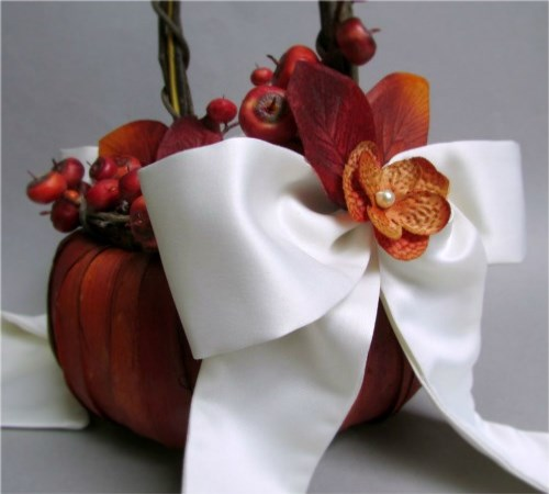 Autumn Bliss Flower Girl Basket