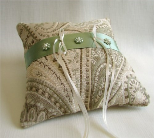 Celadon Mist Ring Bearer Pillow
