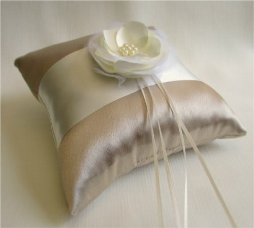 Champagne Bliss Ring Bearer Pillow
