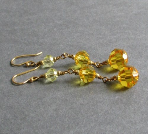 Cosmopolitan Earrings (Golden Ombre)