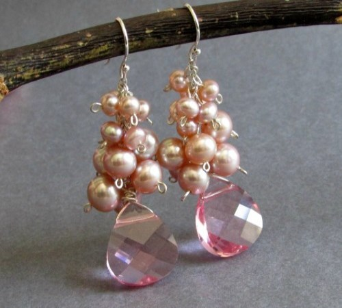 Dazzle Earrings (Blush Pink)