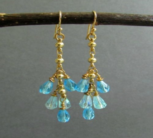 Droplet Earrings (Azure Blue)