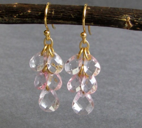 Droplet Earrings (Blush Pink)