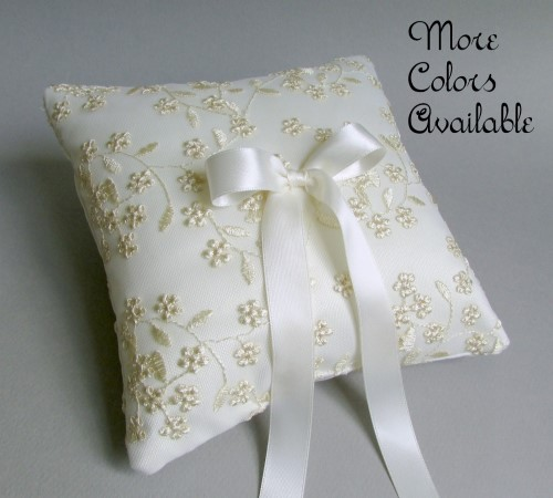 Flora Ring Bearer Pillow