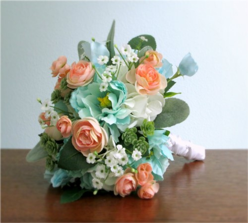 Flourish Wedding Bouquet + Boutonniere