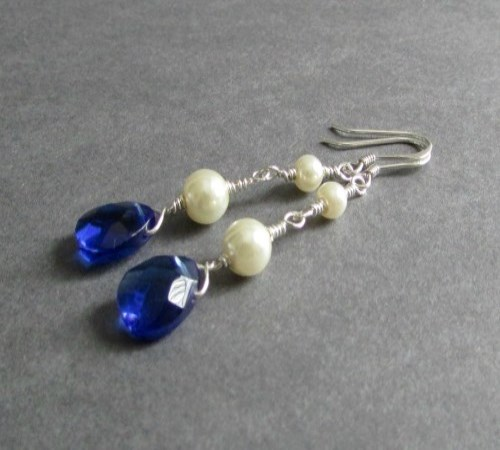 Glisten Earrings (Cobalt)