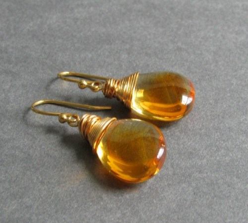 Glow Earrings (Amber)