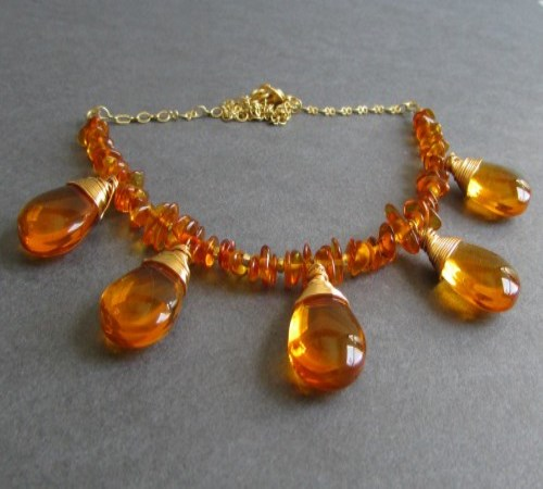 Glow Necklace in Amber (Made Per Order)