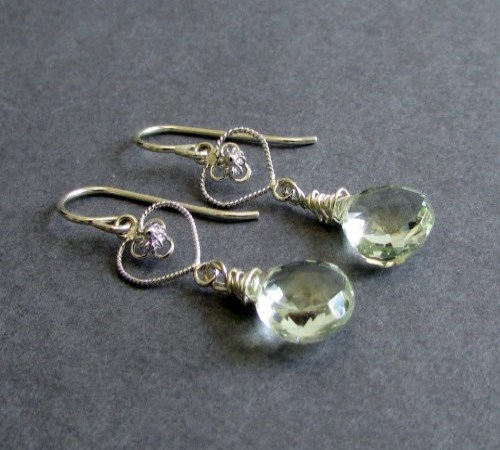 Honor Earrings (Green Amethyst)