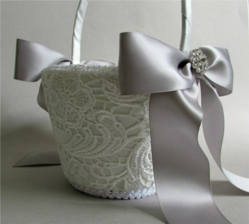 Elegance Flower Girl Basket