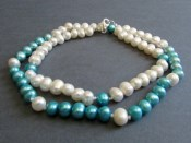 Lexington Necklace (Ivory and Aqua)