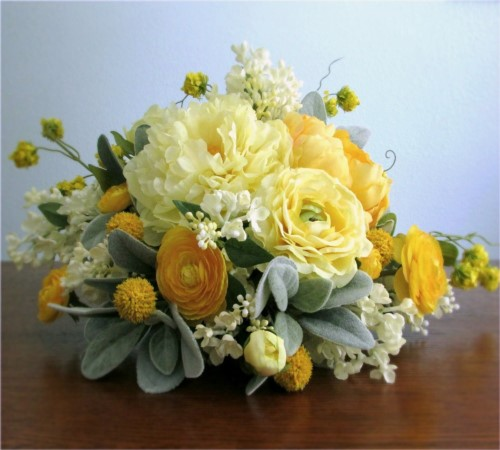 Lively Bridal Bouquet and Boutonniere