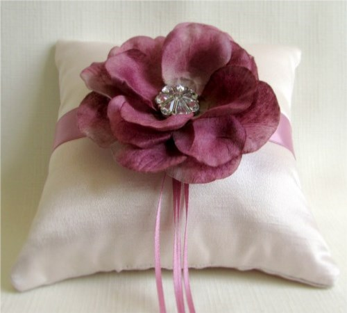 Mauve Magic Ring Bearer Pillow
