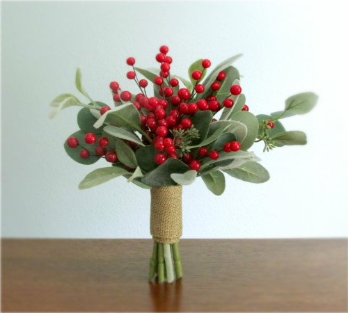 Merry Bouquet + Boutonniere (Made Per Order)
