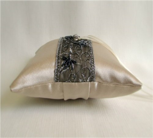 Midnight Champagne Ring Bearer Pillow