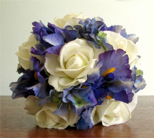Moonlit Bridal Bouquet and Boutonniere