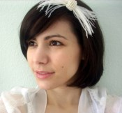 Papillon Feathered Headband Fascinator