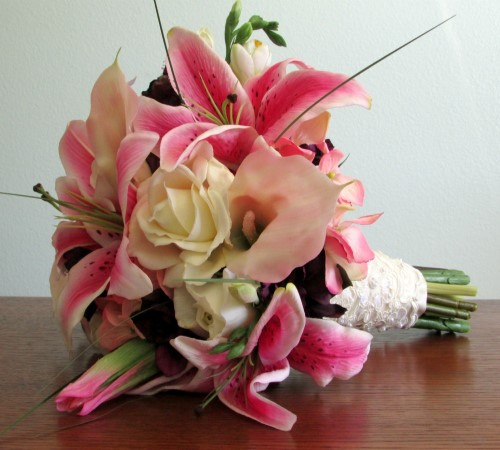 Perfection Bridal Bouquet and Boutonniere