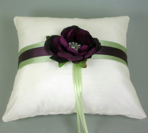 Plum Blossom Ring Bearer Pillow