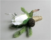 Snow Blossom Boutonnieres