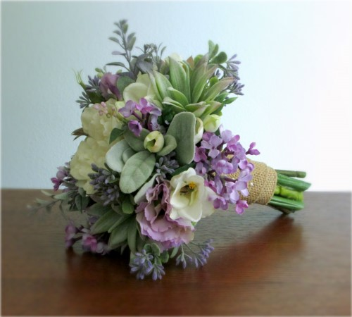 Springtime Bridal Bouquet and Boutonniere