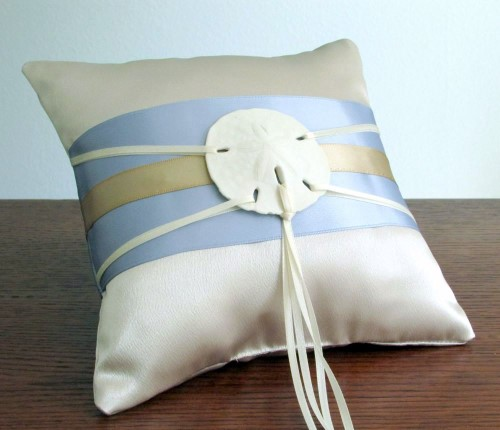 Summer Sand Ring Bearer Pillow