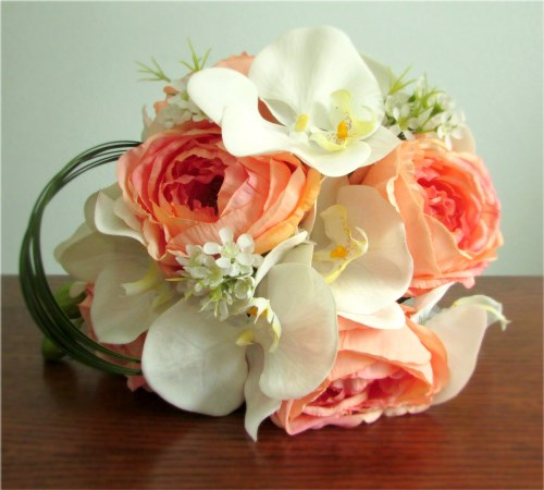 Sunrise Bridal Bouquet and Boutonniere