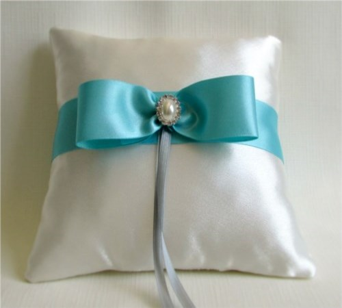 Turquoise Dream Ring Bearer Pillow