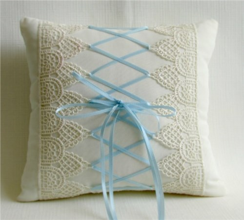 Victorian Lace Ring Bearer Pillow
