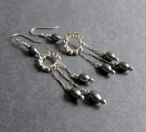 Whirlwind Earrings (Dusk)